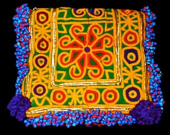 SALE# Tribal Zazi Textile Afghan Embroidered Art Wallet Collectable Work 4