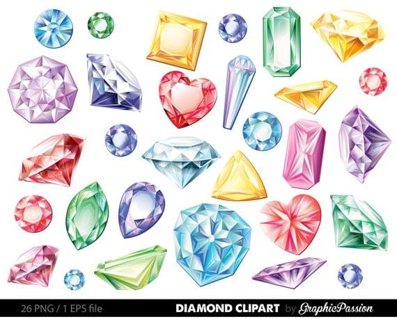 edelsteine diamanten clipart vektor clip art digital edelstein