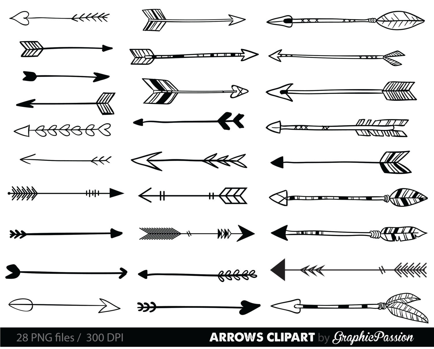 Clip Art Arrows Clip Art arrow clipart etsy arrows clip art tribal archery hand drawn doodle drawing digital instant download