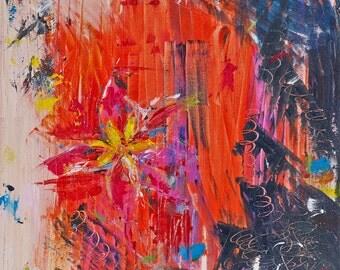 "TINKERBELL | Acrylic on Canvas | 16""x16"""