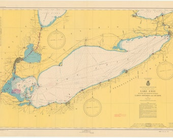 Lake Erie Map 1948
