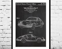 Porsche  Patent, Porsche Poster, Porsche Print, Porsche Art, Porsche Decor, Porsche Blueprint, Porsche Old Wall Art