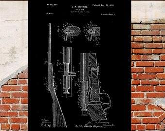 Browning Bolt Gun Poster, Browning Bolt Gun Patent, Browning Bolt Gun Print, Browning Bolt Gun Art, Browning Gun Blueprint, Gun Decor, p4