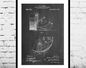 Ludwig Drum and Cymbal Patent, Ludwig Drum and Cymbal Poster, Ludwig Drum and Cymbal Print, Ludwig Drum and Cymbal Art, Drum Art