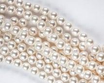 8 mm WHITE SWAROVSKI Round Pearls 5810