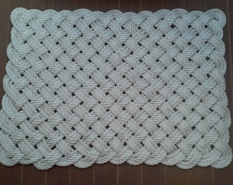 "Large rope mat 18"" x 26"""