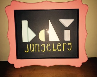 Personalized Baby Shadow Box.  Choose colors and name