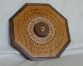 Wooden Cipher Wheel - English plain text and Greek cipher text - Cherry