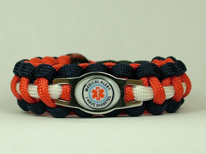 alert diabetes paracord bracelet