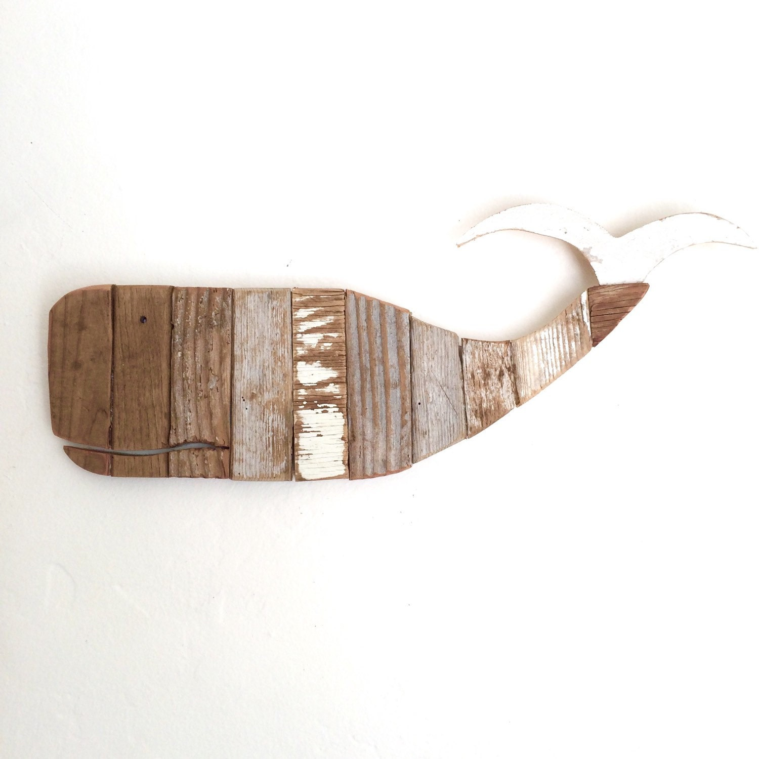 Driftwood whale wall art wall hanging made from by madebycbk for Driftwood wall