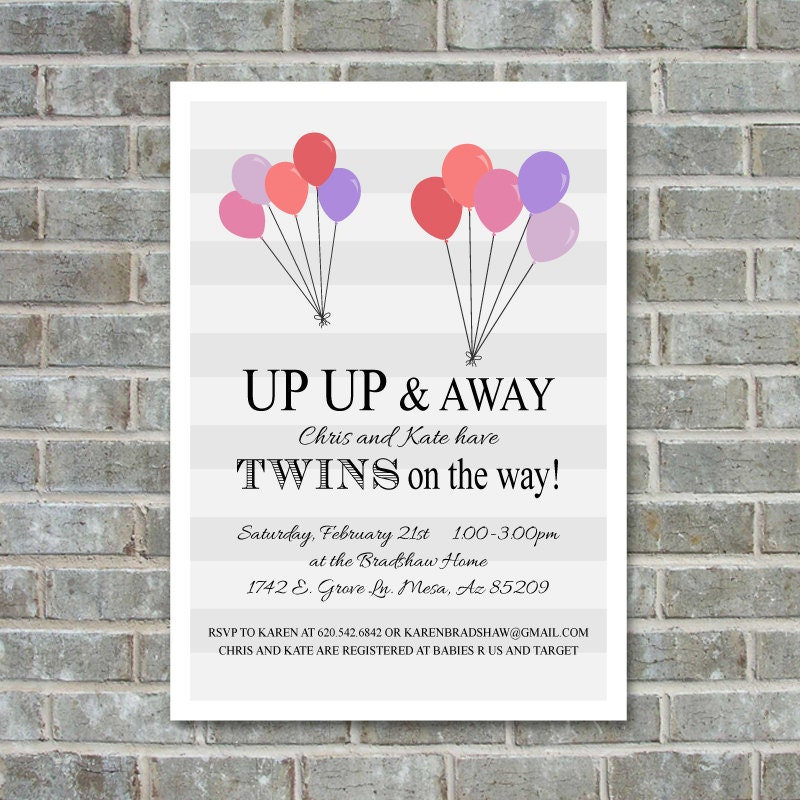 twins baby shower invitation twin baby shower invitation