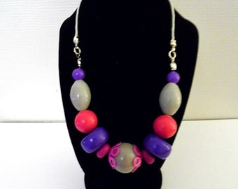 Coloured beaded necklace