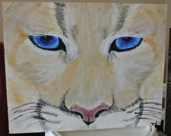Mountain Lion face 8''x10''