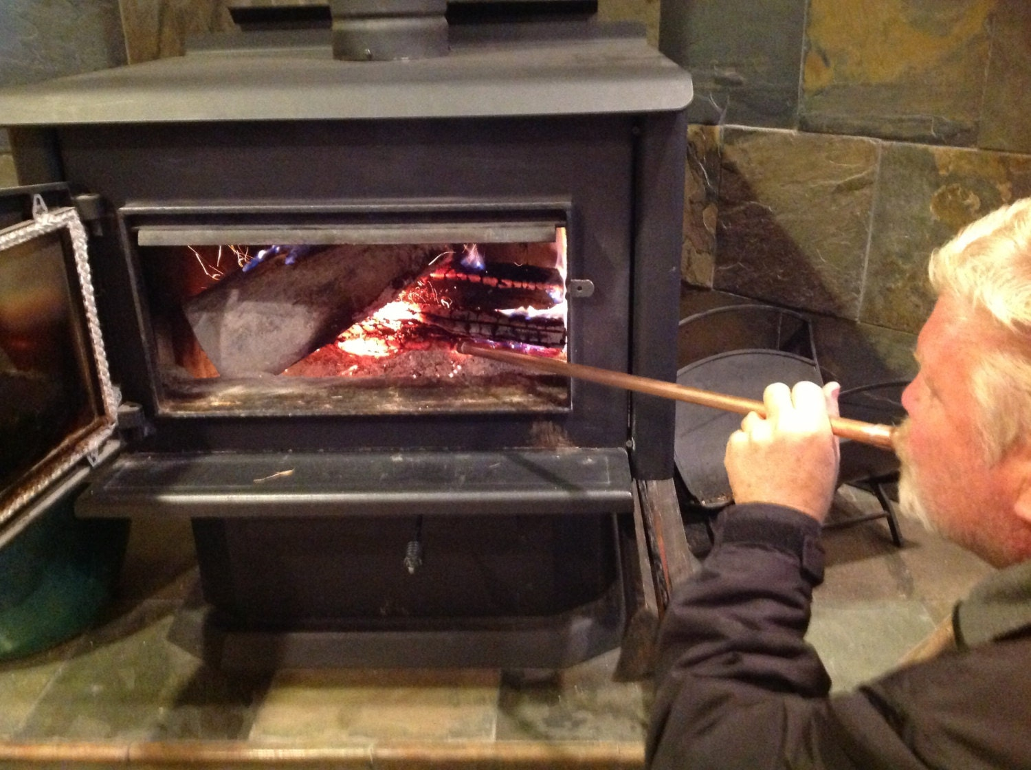 fireplace blowpipe bellowsbackpacking fireplace tool