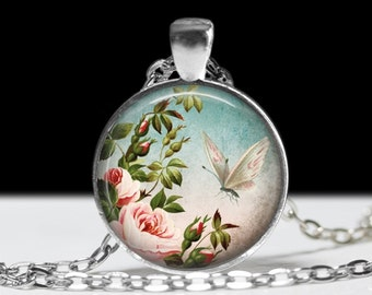 Butterfly Pendant Butterfly Jewelry Wearable Art Butterfly Necklace Teal Butterfly Jewelry Charm