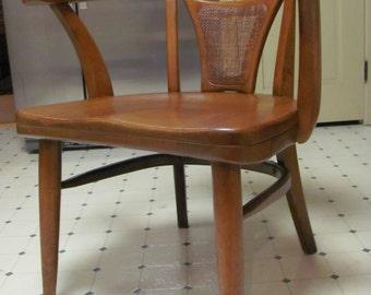 Mid Century Modern Walnut Executive Lounge Chair