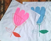 limited edition of 25 tulip tea towels in pink or blue. Silk-screened in melbourne on 100% cotton. as artwork.fits a 50/70cm ikea riba frame