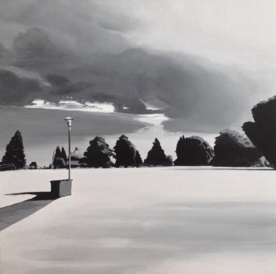 Seattle, storm art, Seattle art, Landscape, West Seattle, stormy skies
