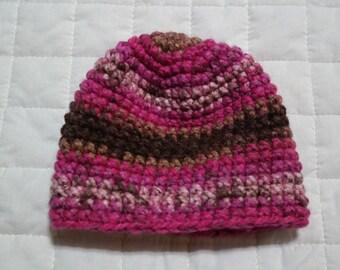 Handmade Crocheted Baby Beanie Hat