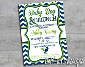 Baby Boy & Brunch Shower Invitation