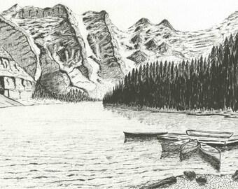 Lake Morraine, Canada - print