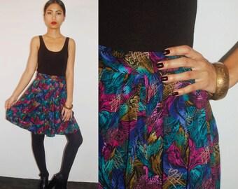 Jewel Tone Painterly Skirt size S