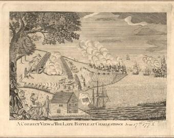 24x36 Poster; Battle Of Charlestown Boston Massachusetts 1775