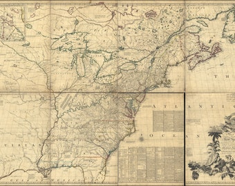 24x36 Poster; Map Of North America Pre United States 1773