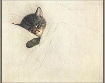 24x36 Poster; Chessie The Railroad Kitten By Guido Gruenewald C1933