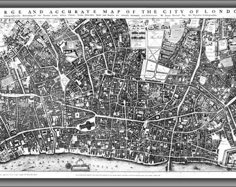 24x36 Poster; City Of London Ogilby And Morgan'S Map Of 1677