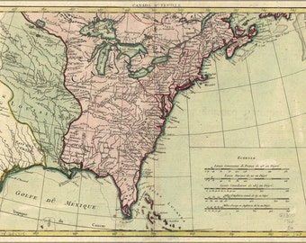 24x36 Poster; Map Of North America 1762 Pre United States