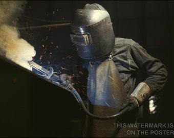 24x36 Poster; Boiler Welder C1942