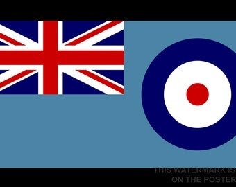 24x36 Poster; Ensign Of The Royal Air Force