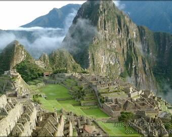 24x36 Poster; Machu Picchu Inca Lost City Of The Incas Peru