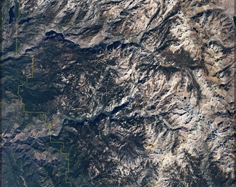24x36 Poster; Yosemite National Park From Space