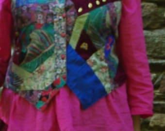 Crazy patchwork vest