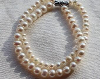 Bridal pearl bracelets, freshwater Pearl bracelets, pearl bracelet wedding,pearl bracelets bridesmaid