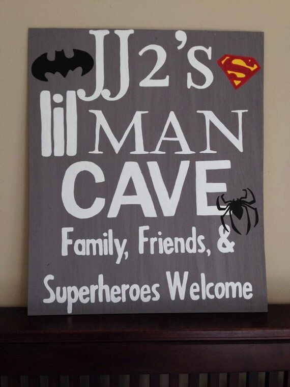 Personalized Man Cave Signs Etsy : Custom painted lil man cave sign by thishandpaintedhome on