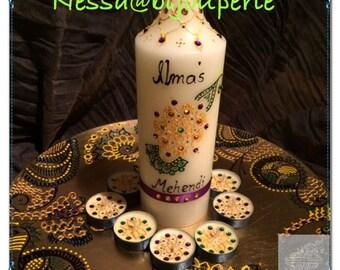 Mendi mehendi henna taal candle set