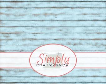 Vinyl Photography Backdrop, LIGHT BLUE WORN wood Photography Backdrop // SimplyPhotodrops Premium vinyl backdrop