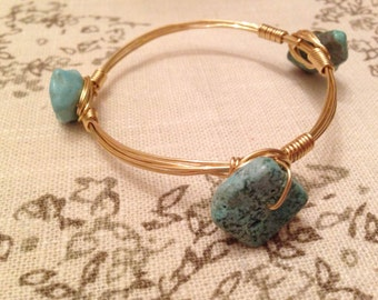 Light Blue Bangle- The Marnie
