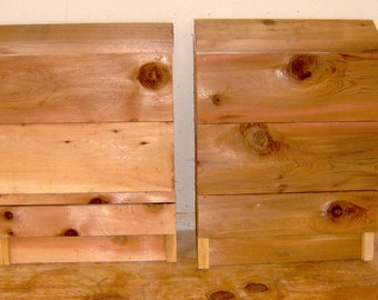 Brand New Large 1 Chamber Bat Houses - 2 Pack - All Cedar Wood- Free Shipping