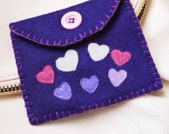 Wool Felt Coin Purse/Wallet