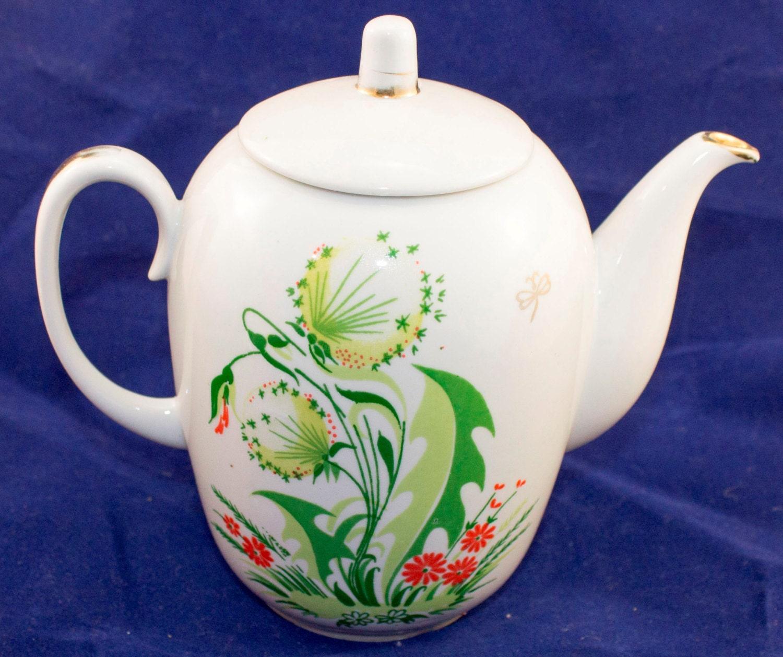 Teapot tea pot coffee with lid vintage soviet tableware
