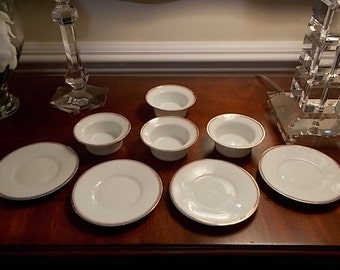 China Bowls with Platters