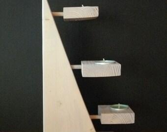 candle holder wood
