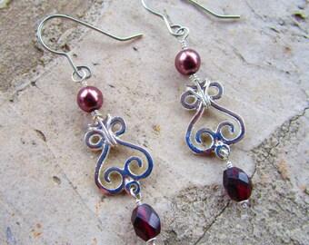 Garnet Earrings January Birthstone