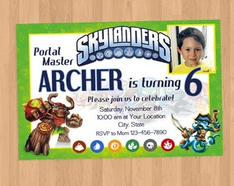Skylanders Birthday Party Invitation Printable
