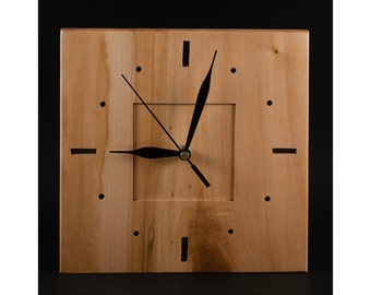 Wood clock, unique wall clock decor, office clock, kitchen wall clock, housewarming Gift