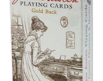 Jane Austen Playing Cards - GOLD Back